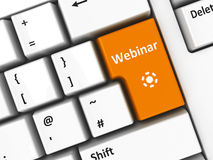 Computer keyboard webinar Royalty Free Stock Photo