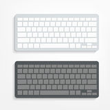 Computer keyboard on white background Stock Images