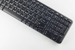 Computer keyboard wireless on white background. Stock Image