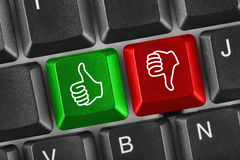 Computer Keyboard With Two Gesturing Hands Royalty Free Stock Photos