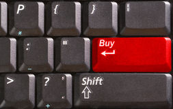 Computer keyboard with word Sell on red button Royalty Free Stock Photography