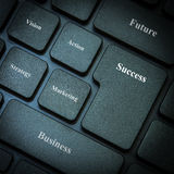 Computer keyboard with words business and success Stock Photos