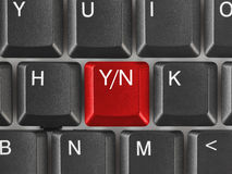 Computer keyboard with Yes and No key Royalty Free Stock Image