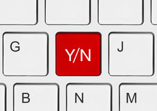 Computer keyboard with Yes and No key Royalty Free Stock Photography