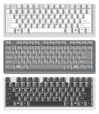 Computer keyboards, vector  Royalty Free Stock Images