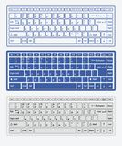 Computer keyboards. For using in app Royalty Free Stock Photography