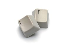 IT Computer Keys with Clipping Path Stock Photo