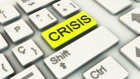 3d Crisis Computer keys Stock Image