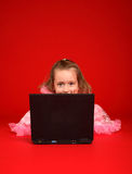 Computer kid royalty free stock photography