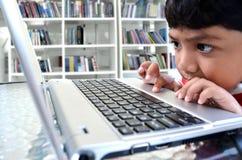 Computer Kid royalty free stock photos