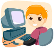 Computer Kid Stock Photo
