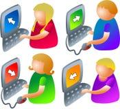 Computer kids vector illustration