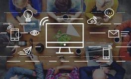 Computer-Kommunikations-Verbindungs-Technologie-Informations-Konzept stockfotografie