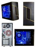 Computer-Kontrollturm getrennt Stockbild