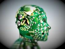 Computer-Kopf 21 Stockfoto
