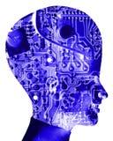Computer-Kopf 33 Lizenzfreies Stockbild