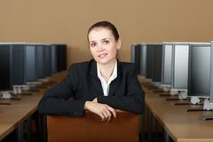 In computer lab Royalty Free Stock Image