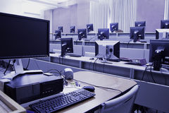 Computer Lab Stock Photo