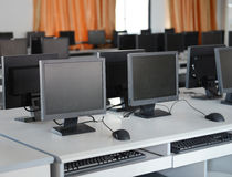 Computer lab Stock Photography