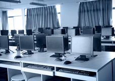 Computer lab Royalty Free Stock Photos