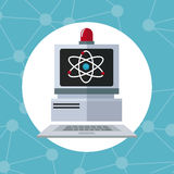 Computer laboratory alert technology discovery. Vector illustration eps 10 Royalty Free Stock Photo