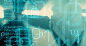 Computer language code and binary data Royalty Free Stock Photo