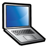 Computer laptop Royalty Free Stock Photography