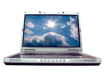 Computer - laptop blue sky Stock Photography
