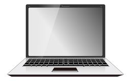 Computer Laptop Front View Royalty Free Stock Images