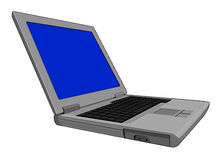 Computer laptop grey Royalty Free Stock Image