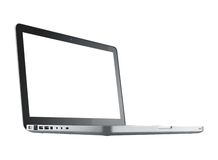 Computer laptop isolated stock image