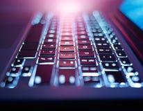Computer, laptop keyboard stock photo