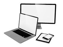 Computer, Laptop and Phone. Stock Image