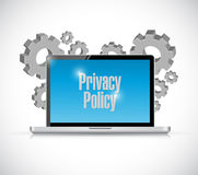 Computer laptop sign privacy policy Royalty Free Stock Photography