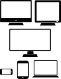 Computer, laptop, tablet, Tv and smartphone vectors Stock Photos