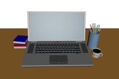 Computer Laptop und stockchart Lizenzfreie Stockfotografie