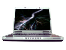 Computer - laptop water ripple Stock Photos