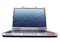 Computer - Laptopwasserkräuselung Lizenzfreie Stockbilder