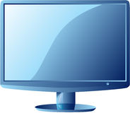 Computer Lcd monitor. LCD monitor, isolated. High detailed vector illustration Royalty Free Stock Photography