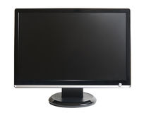 Computer lcd monitor. Frontal view of computer lcd monitor isolated on white Stock Photography