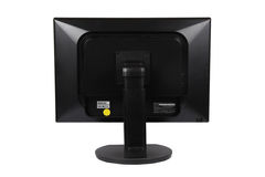 Computer LCD monitor on the back royalty free stock photos