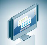 Computer LCD Panoramic Display Royalty Free Stock Photos