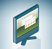 Computer LCD Screen Royalty Free Stock Images