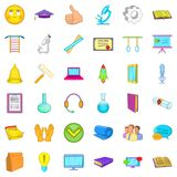 Computer learning icons set, cartoon style. Computer learning icons set. Cartoon style of 36 computer learning vector icons for web isolated on white background Stock Images