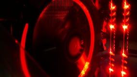 Computer leggero astratto elettronico Fotografia Stock Libera da Diritti