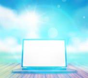 Computer light blue sunshine design Royalty Free Stock Photo