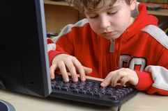 Computer literacy Royalty Free Stock Photos