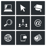 Computer literacy icons set. Vector Illustration. Stock Photography