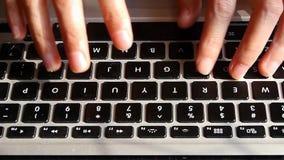 Computer Literate Operator,Typing laptop Keyboard. stock footage