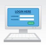 Computer Login Stock Image